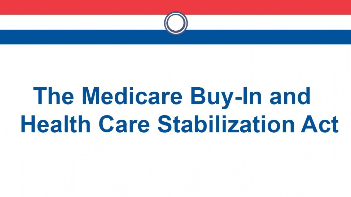 The Medicare Buy-In and Health Care Stabilization Act graphic
