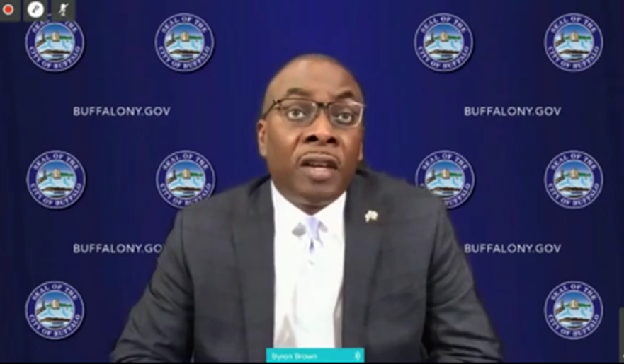 Buffalo Mayor Byron Brown Speaking During Ways and Means