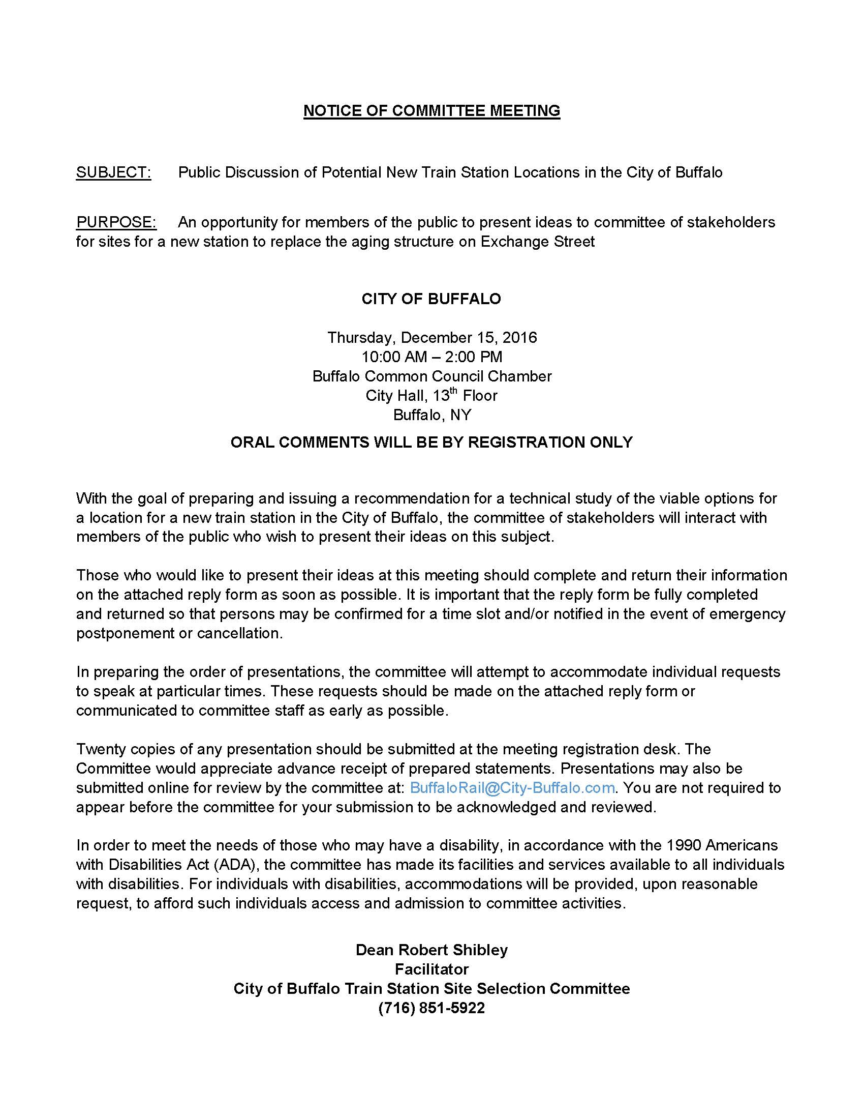 Notice of committee meeting congressman brian higgins blog post m4hsunfo