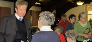 Congressman Brian Higgins with constituents